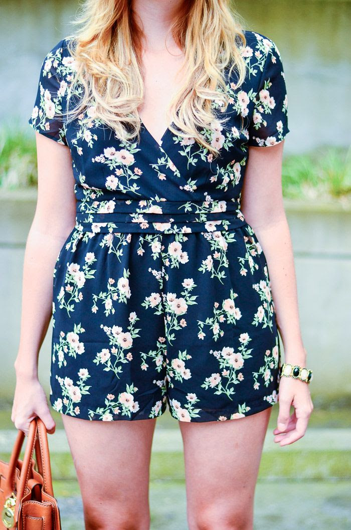 The Urban Umbrella | A Vancouver Style Blog: FLORAL ROMPER