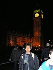 Big Ben di Waktu Malam, London, UK