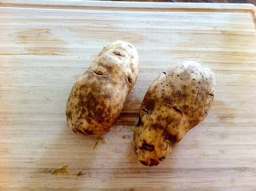 2 Very Large Russet Potatoes