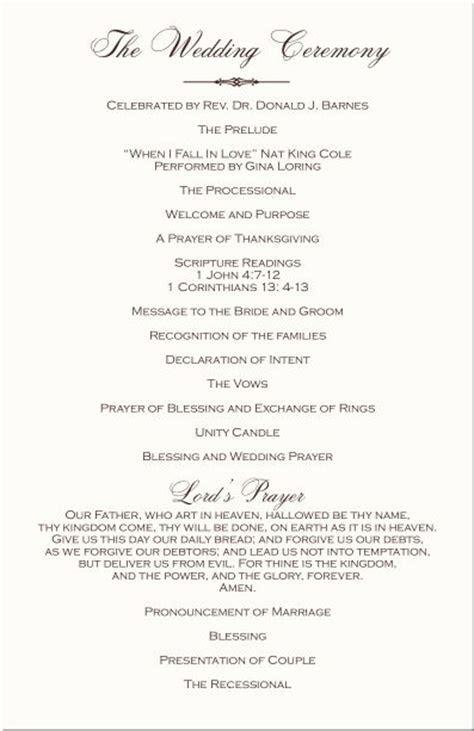 christian wedding programs   Ceremony   Ceremony