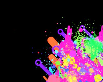 Painting Kitty Paint Splatter Default Purple Picture
