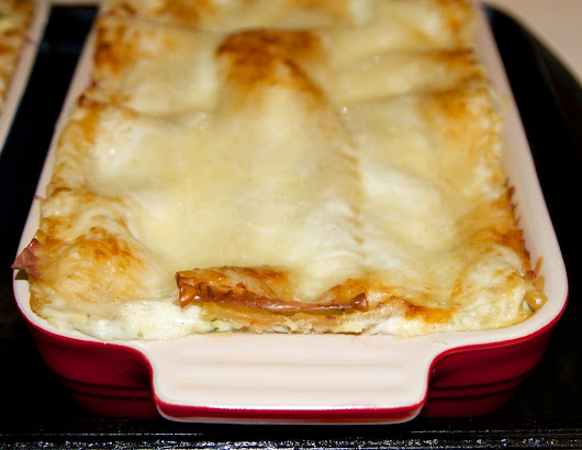 White Lasagne with Spinach and Ricotta - Cast Iron and Wine