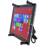 """RAM Universal X-Grip Cradle for 12"""" Tablets with U-Bolt Rail Mount Kit by PilotMall.com"""