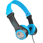 JLab Audio - JBuddies Folding Wired On-Ear Headphones - Blue/Gray
