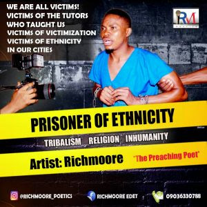 Religion is the modern terrorist … cries out Richmoore Edet in this piece titled Prisoner of Ethnicity