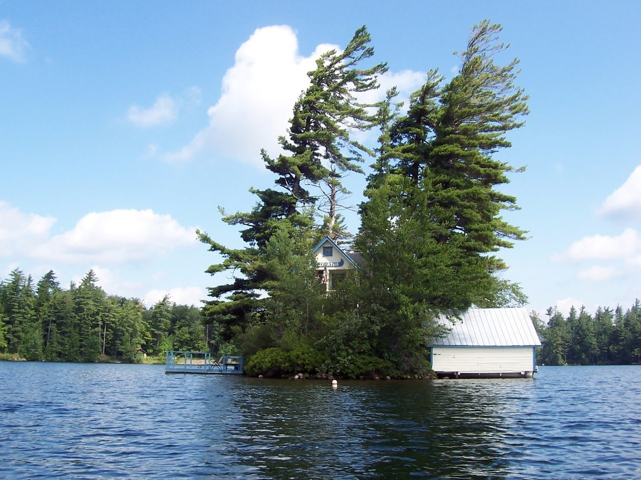 Camp Hiawatha and boathouse on Star Lake, New York Submitted by Joe DaBoll-Lavoie / @jdaboll6