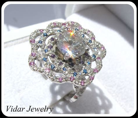 2 Ct Diamond Flower Engagement Ring   Vidar Jewelry