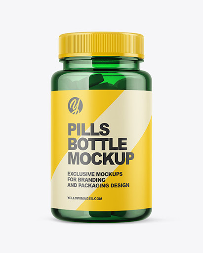 Download Colored Pills Bottle Mockup Psd PSD Mockup Templates