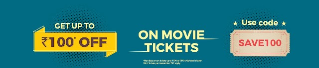 Get ₹100 discount on movie ticket booking with bookmyshow