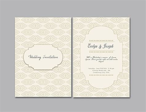 Simple Wedding Invitation Template ? GraphicLoads