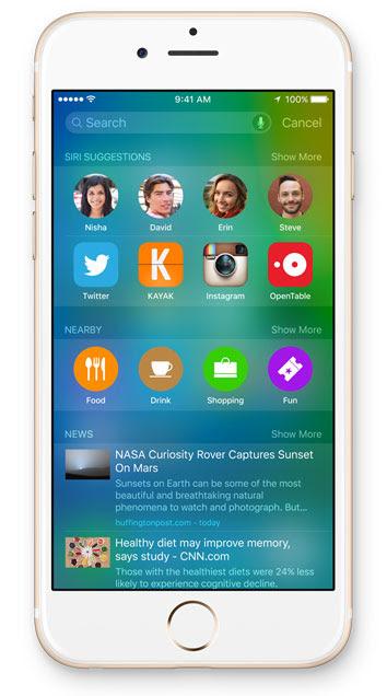 iOS 9 buscas