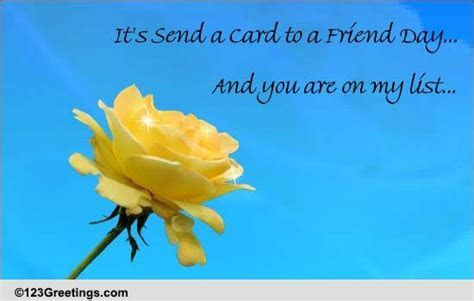 I Cherish Your Friendship  Free Send a Card to a Friend