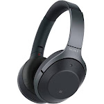 Sony WH-1000XM2/B Bluetooth Wireless Over-Ear Headphones with Mic and NFC - Noise-Canceling - Black