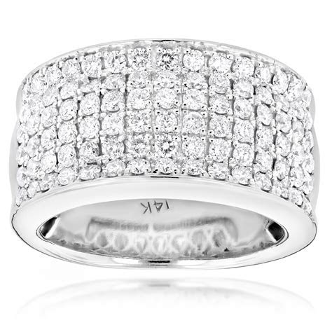 14K Gold Mens Designer Diamond Wedding Band 2.05ct