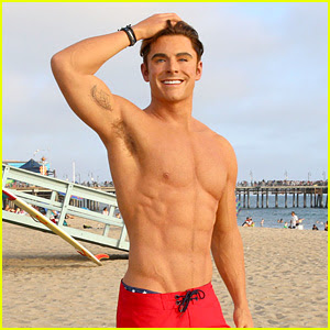 Zac Efron Has a Shirtless Wax Figure & It Visited the Beach!