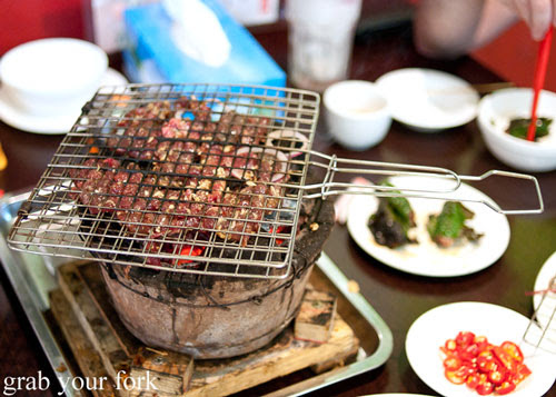 Barbecue deer at Hai Au Lang Nuong Canley Vale