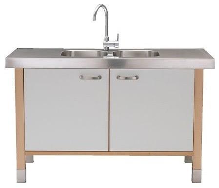 VÄRDE Sink cabinet/sink w double-bowl - modern - bathroom vanities ...