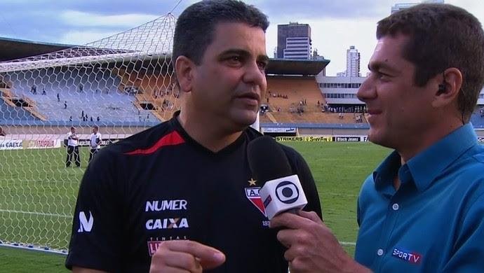 Marcelo Cabo comemora vitória sobre o Goiás (Foto: Reprodução/PFC)