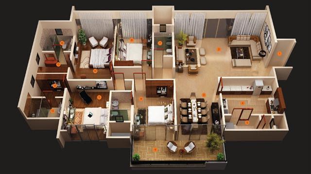 92+ Ide Denah Apartemen Mewah Populer