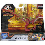 Jurassic World Camp Cretaceous Velociraptor Action Figure [Red with Green Stripes]