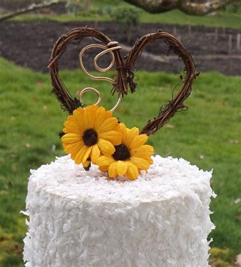 Sunflower Wedding Decor Rustic Cake Topper #2688583   Weddbook