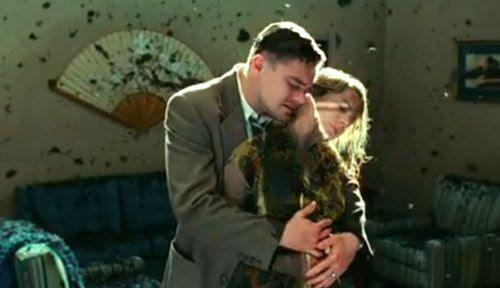 Leonardo DiCaprio hugs his dead wife (Michelle Williams) in SHUTTER ISLAND.