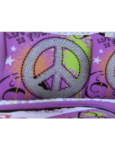 Best 7pc Girl Pink Yellow Purple Black Heart Love Peace