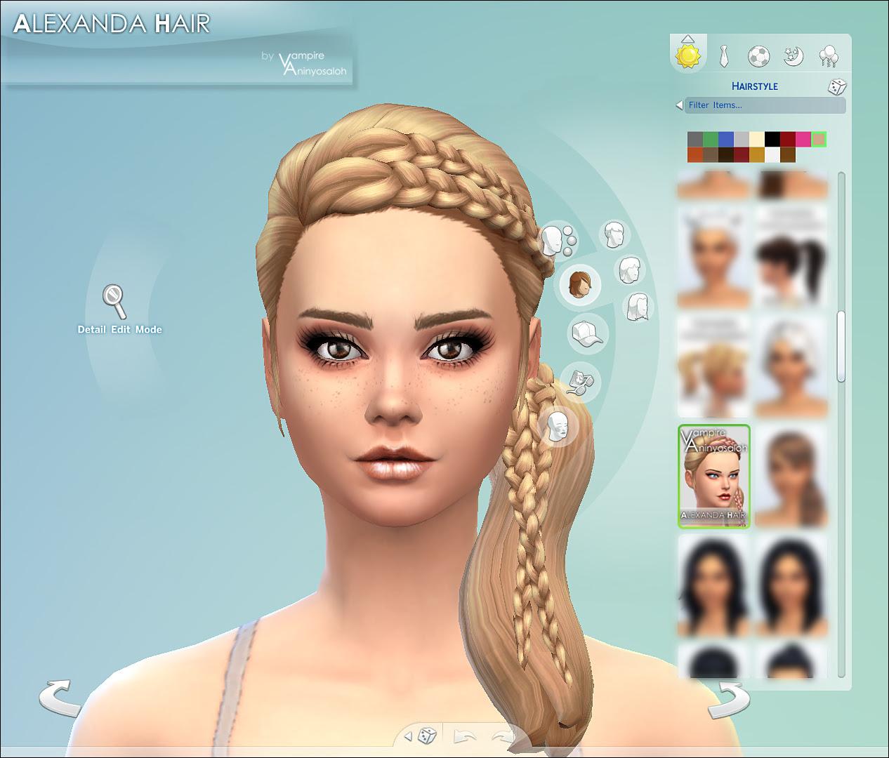 Mod The Sims Alexandra Hair New Mesh