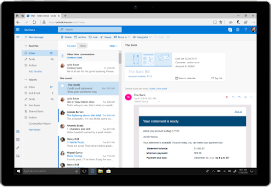 Following Gmail's makeover, Outlook rolls out new features focused on business users – TechCrunch