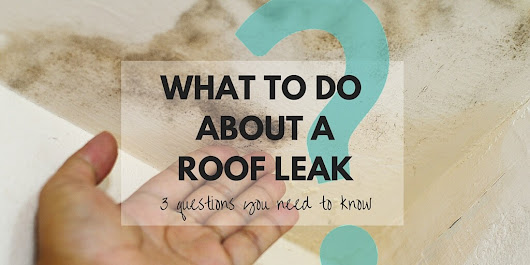 What to do about a Roof Leak - Rainbow Roofing Solutions