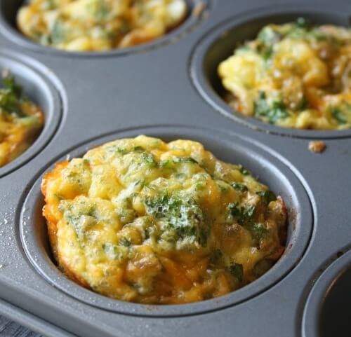 Baked Kale and Cheddar Breakfast Cups - Daily Appetite