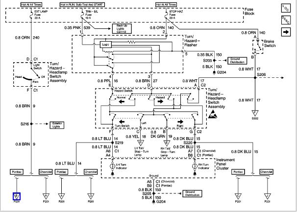 Where is the headlight relay on a 1998 pontiac sunfire?
