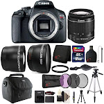 Canon Eos Rebel T7 24.1MP DSLR Camera with 18-55mm and 16GB Accessory Bundle