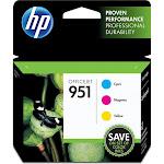 HP 951 Ink Cartridge, Cyan/Magenta/Yellow - 1-pack