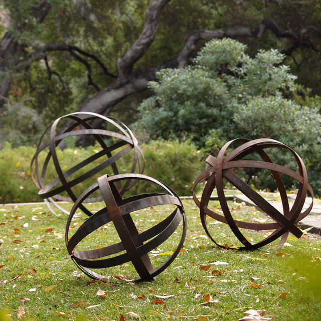 Iron Sphere - Rusted in Garden Ornaments - contemporary - outdoor ...
