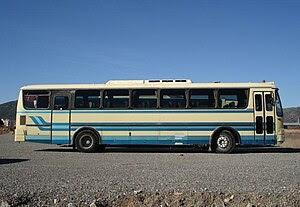 English: Magirus M2000 bus (withdrawn). Tripol...