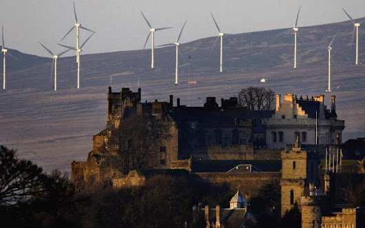 Scotland just produced enough wind energy to power it for an entire day