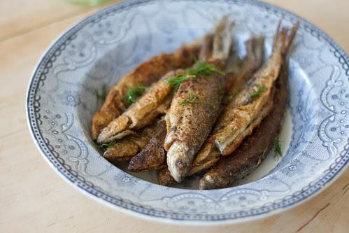Praetud rääbised / Pan-fried whitefish