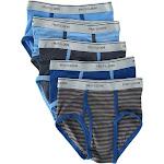 Fruit of the Loom Boy's Fashion Briefs Underwear (5 Pack) - Solid