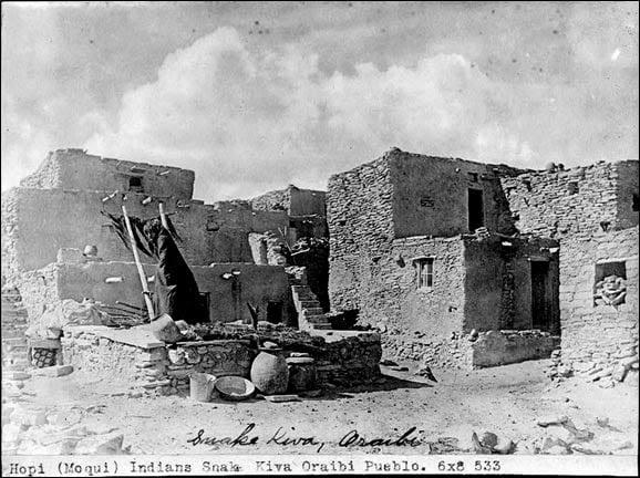 Snake Kiva in the village of Oraibi - Hopi