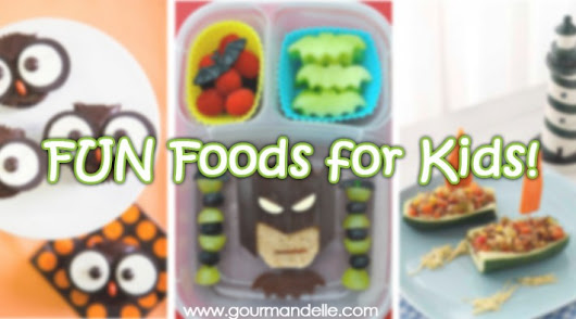 20 Awesome Fun Foods for Kids - Gourmandelle | Vegetarian Blog