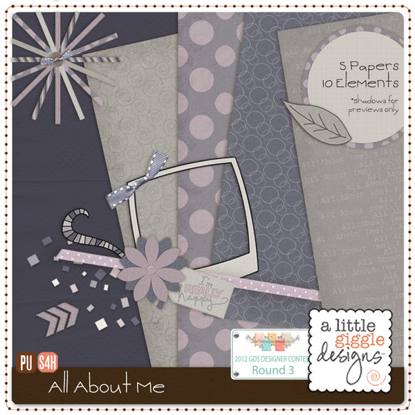 'All About Me' Digital Scrapbooking Mini Kit Freebie Free