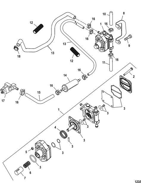 Mercury Marine 25 HP (4-Stroke) Fuel Pump Parts