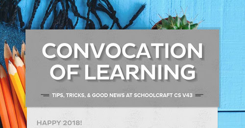 Convocation of Learning | Smore Newsletters for Education