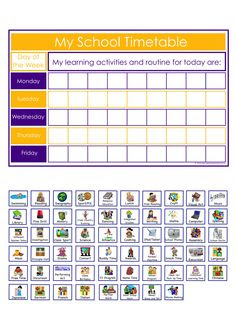 Visual timetable...essential for every classroom I think ...