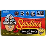 Season Brand Sardines, Sls/Bls, Tom Sce - 4.375 Oz - Pack Of 12