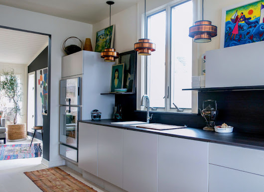 A Colorful, Modern Scandinavian Kitchen Renovation With New England Roots