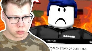 Roblox Guest 666 Reaction Roblox Free Animations - reacting to the last guest a roblox sad story by oblivioushd
