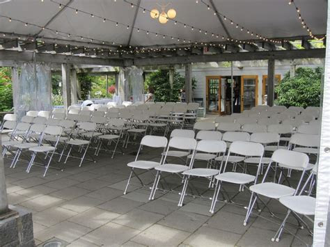 A 30'x30' tent on the patio. Tent provided by Alexander