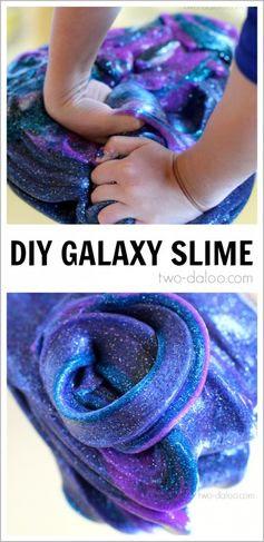 Night Sky Activities for Preschool: Galaxy Slime - Twodaloo